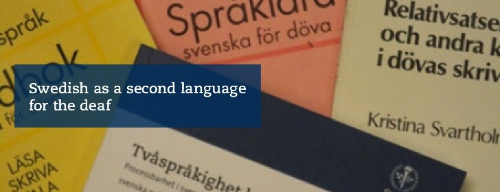 Section for Swedish as a second language for the deaf
